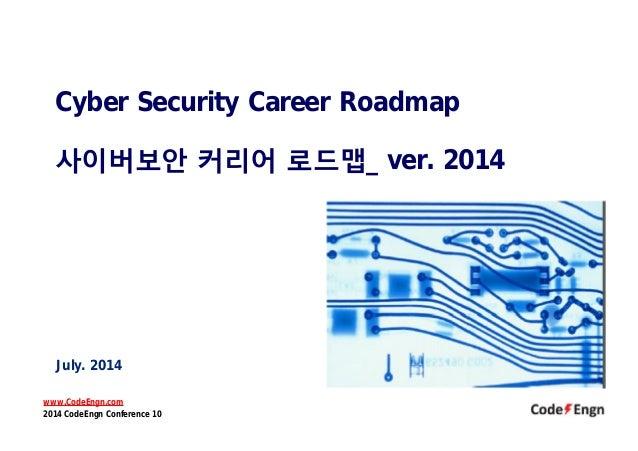 Cyber Security Career Roadmap 사이버보안 커리어 로드맵_ ver. 2014 July. 2014 www.CodeEngn.com 2014 CodeEngn Conference 10