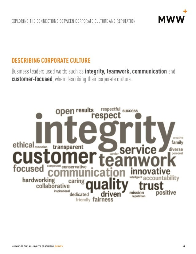 the corporate culture between the public Embedding ethical values in the corporate culture:  the public sector and not-for-profit organisations  and fair corporate culture by embedding ethical values.