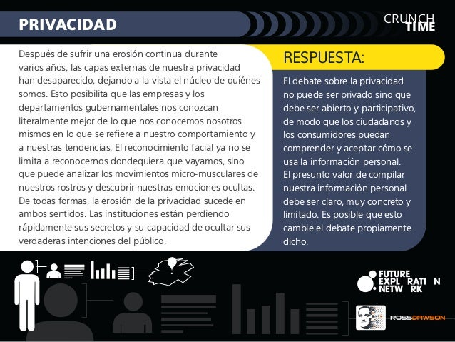 TIME CRUNCH PRIVACIDAD El debate sobre la privacidad no puede ser privado sino que debe ser abierto y participativo, de mo...