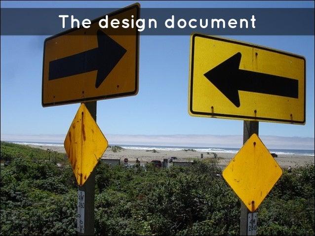 The design document