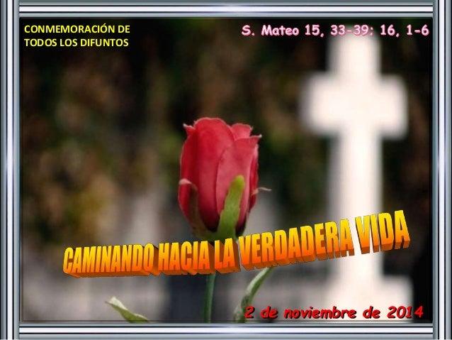 2 de noviembre de 2014  CONMEMORACIÓN DE  TODOS LOS DIFUNTOS