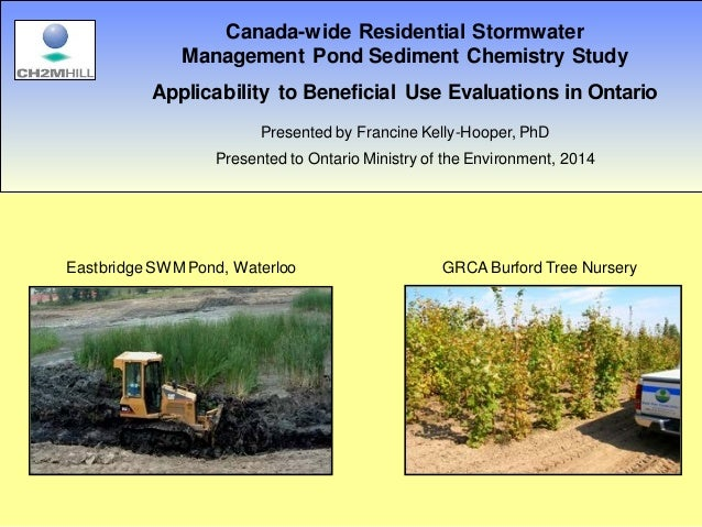 Canada Wide Residential Stormwater Management Pond Sediment