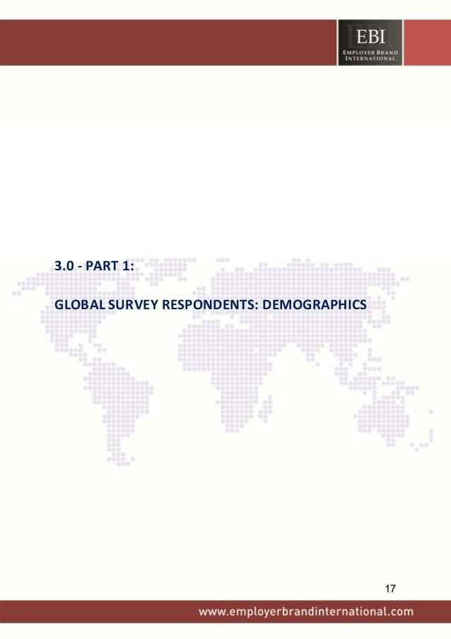 3.0‐PART1: GLOBALSURVEYRESPONDENTS:DEMOGRAPHICS 17