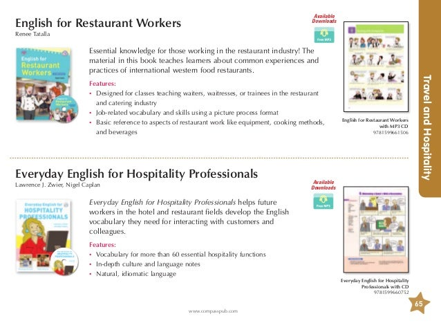 English expressions that waiters waitresses and