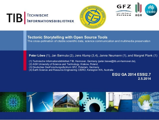 Tectonic Storytelling with Open Source Tools The cross-pollination of citable scientific data, science communication and m...
