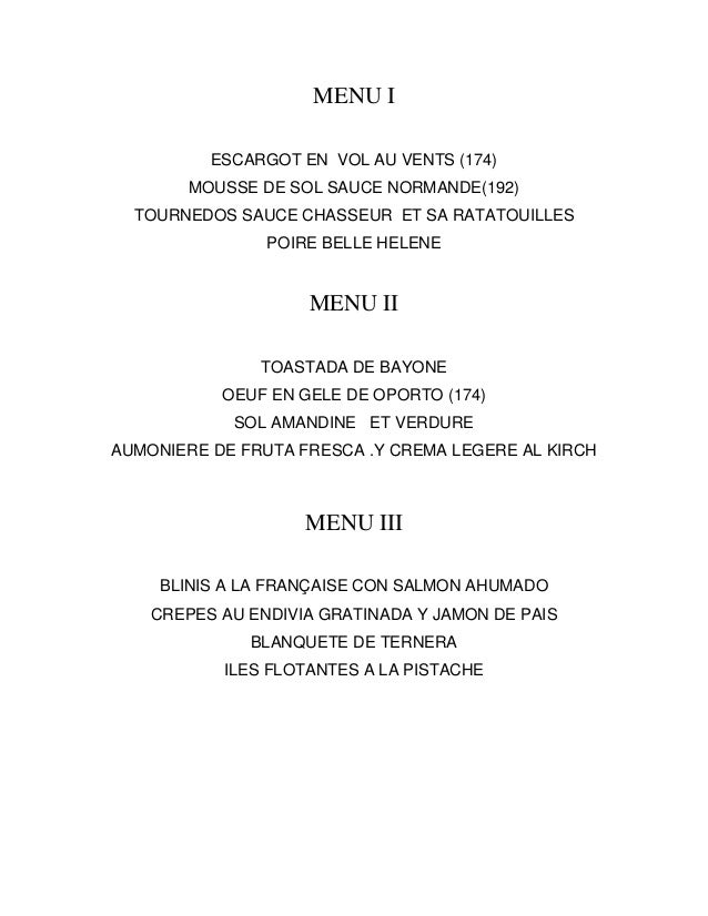 2014 enero menu semana francesa for Menu tipico frances