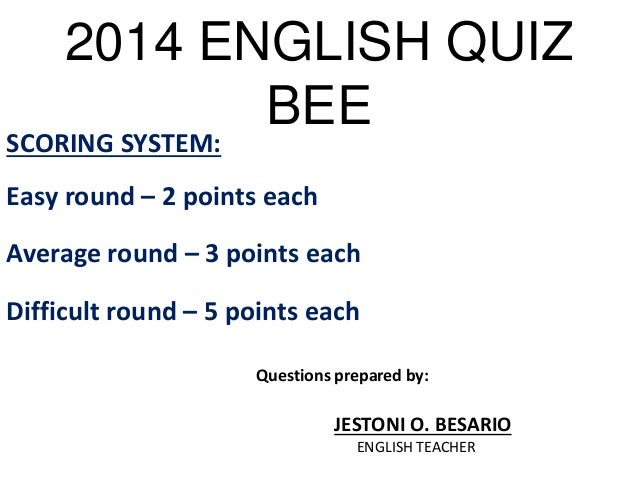 Spelling Bee Trivia and Quizzes