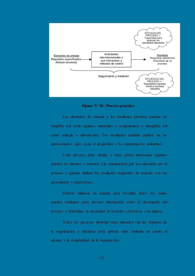 ~ 37 ~ Figura N° 01: Proceso genérico Los elementos de entrada y los resultados previstos pueden ser tangibles (tal como e...