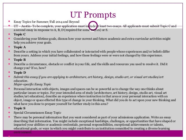 Ut austin essay help applying for admission checklist