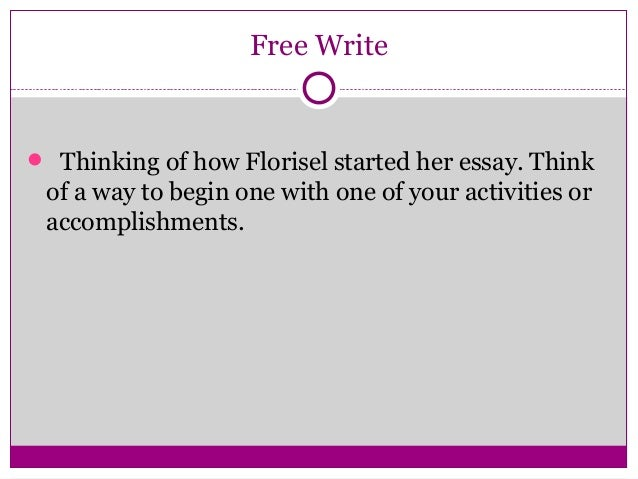Accomplishments college essay