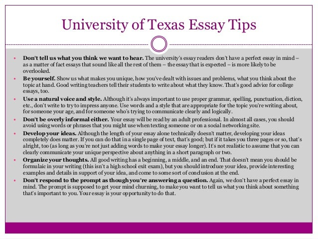 apply texas essay c examples