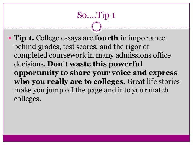 Hamilton High School College Application Essay Tips