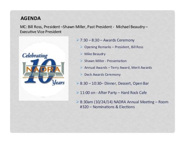 2014 NADRA Awards Ceremony - 10 Year Anniversary Slide 2