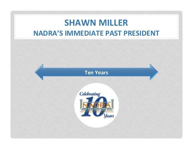 2014 NADRA Awards Ceremony - 10 Year Anniversary Slide 3
