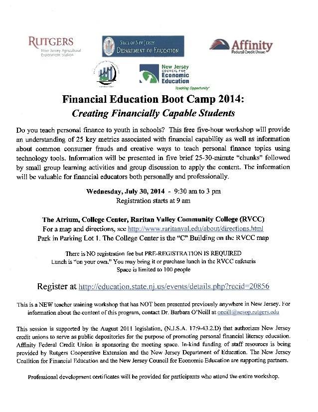 2014 Financial Education Boot Camp Marketing Flyer-BUNDLED