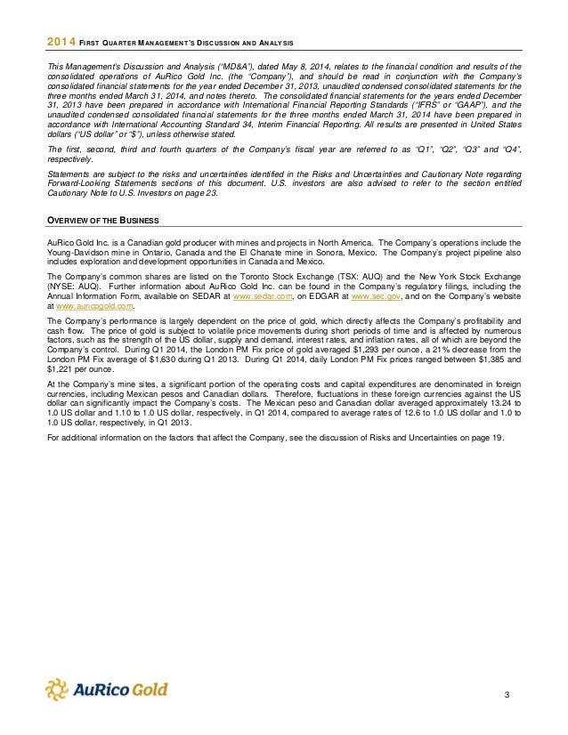 2014 first quarter report Slide 3