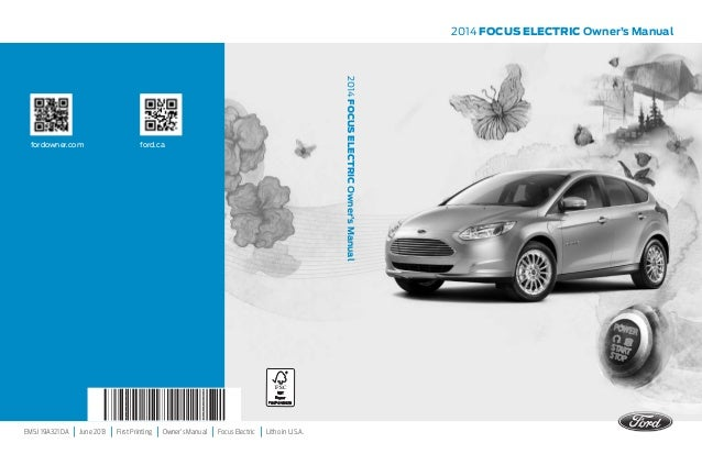 Emj A Da June  First Printing Owners Manual Focus Electric