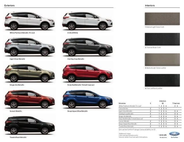 Ford Escape Colors >> 2014 Ford Escape Colors Ford Gallery
