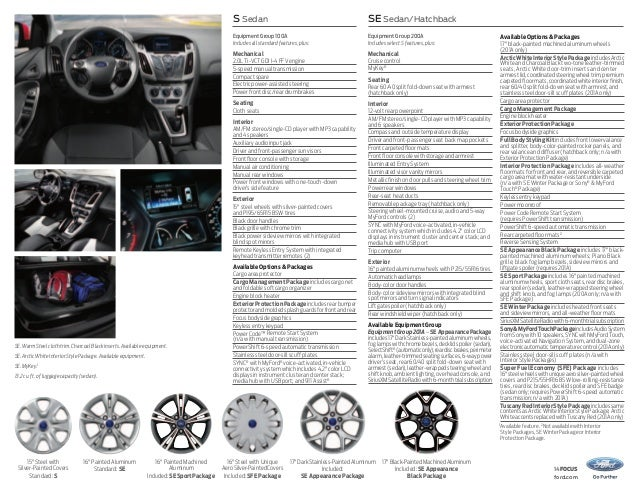 2014 Ford Focus Brochure
