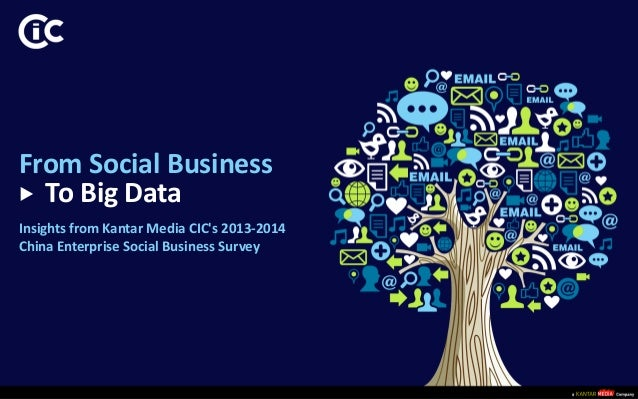 © 2014 Kantar Media CIC  From Social Business  To Big Data  Insights from Kantar Media CIC's 2013-2014  China Enterprise S...