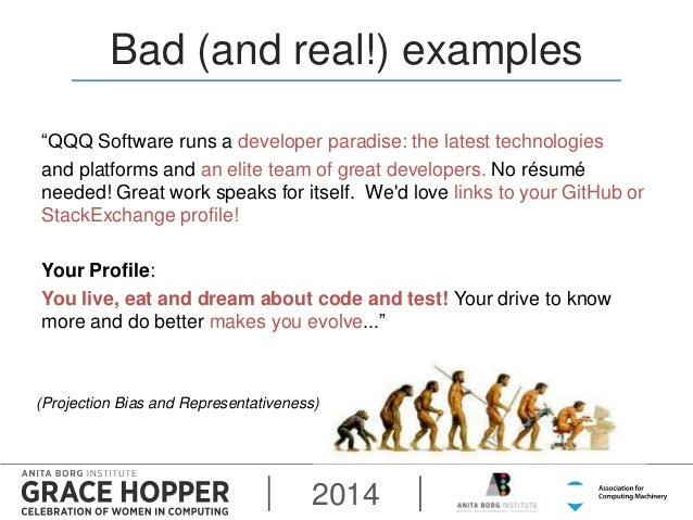 bad and real examples qqq - Grace Hopper Resume Database