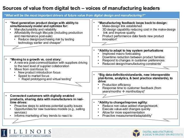 """Sources of value from digital tech – voices of manufacturing leaders  """"What will be the most important drivers of future v..."""