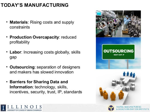 TODAY'S MANUFACTURING  • Materials: Rising costs and supply  constraints  • Production Overcapacity: reduced  profitabilit...