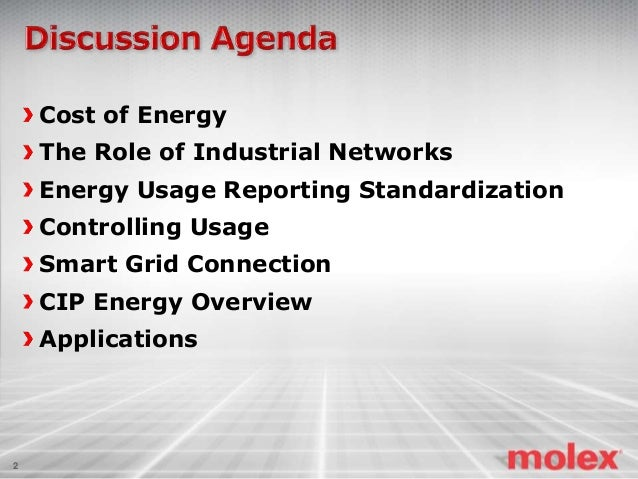 Energy in Factory Automation and the Role of Industrial Networks Slide 2