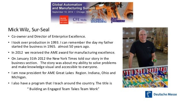 The Building Blocks of Manufacturing Excellence Slide 3