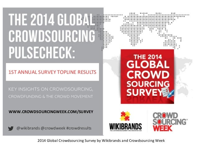 1ST ANNUAL SURVEY TOPLINE RESULTS 2014 Global Crowdsourcing Survey by Wikibrands and Crowdsourcing Week @wikibrands @crowd...