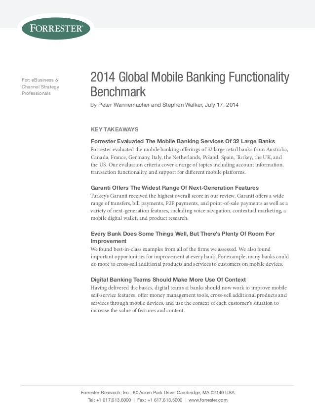 Garanti Bankası Forrester 2014