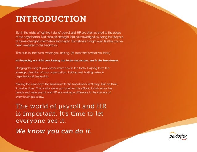 2014 Guide to Backroom-to-Boardroom Payroll and HR