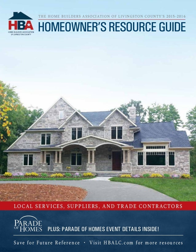 Save for Future Reference • Visit HBALC.com for more resources Local Services, Suppliers, and Trade Contractors Homeowner'...