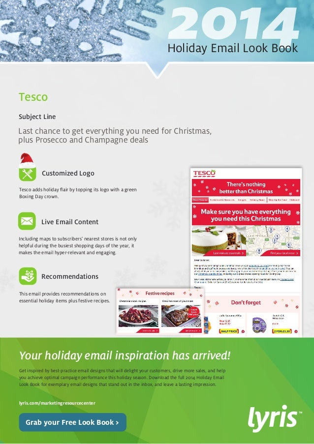 2014 Holiday Email Look Book  Get inspired by best-practice email designs that will delight your customers, drive more sal...