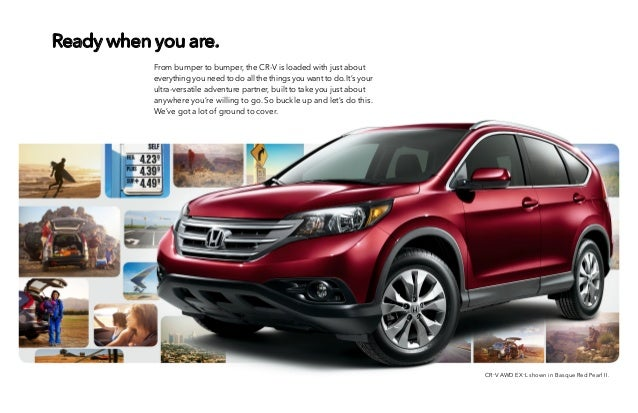 2014 honda cr v brochure for el paso las cruces for Honda cr v brochure