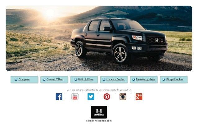 2014 honda ridgeline brochure for el paso las cruces for Motor vehicle express albuquerque