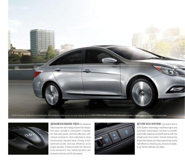 Hyundai Sonata Gls 2014: 2014 Hyundai Sonata Brochure