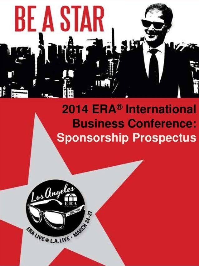 2014 ERA® International Business Conference: Sponsorship Prospectus
