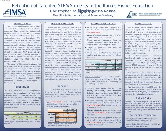 Retention of Talented STEM Students in the Illinois Higher Education  INTRODUCTION  The Illinois Mathematics and Science  ...