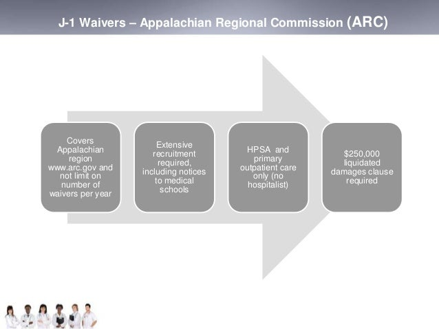 J-1 Waivers – Appalachian Regional Commission (ARC)  Covers  Appalachian  region  www.arc.gov and  not limit on  number of...