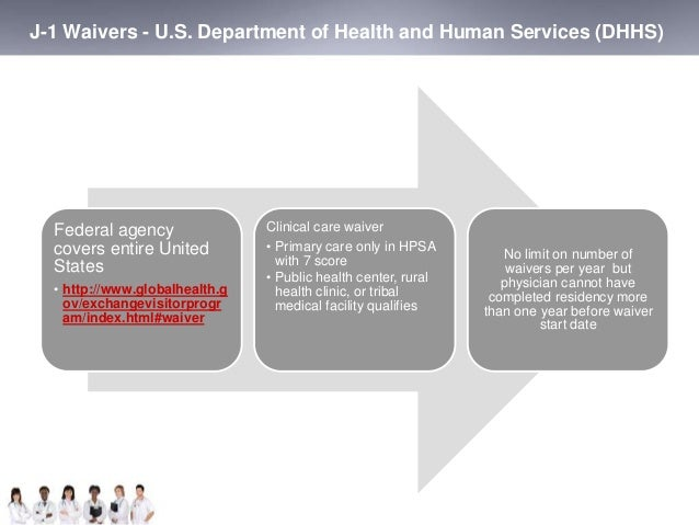 J-1 Waivers - U.S. Department of Health and Human Services (DHHS)  Federal agency  covers entire United  States  • http://...
