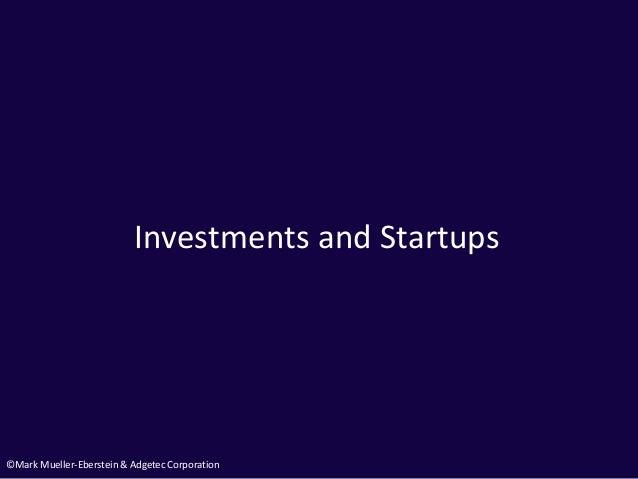 ©Mark Mueller-Eberstein & Adgetec Corporation Investments and Startups