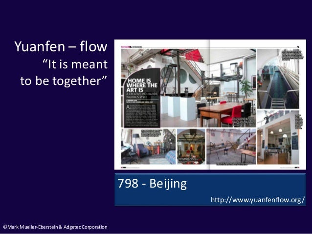 """©Mark Mueller-Eberstein & Adgetec Corporation Yuanfen – flow """"It is meant to be together"""" 798 - Beijing http://www.yuanfen..."""