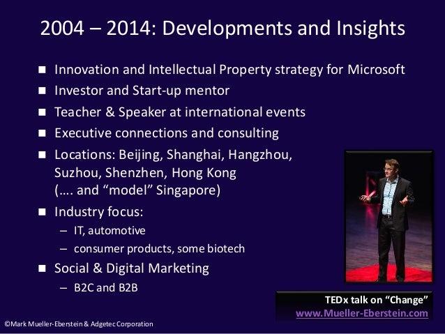 ©Mark Mueller-Eberstein & Adgetec Corporation 2004 – 2014: Developments and Insights  Innovation and Intellectual Propert...