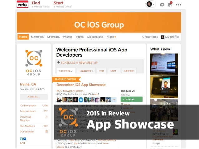 2015 in Review App Showcase
