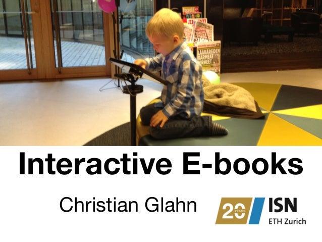 Interactive E-books  Christian Glahn