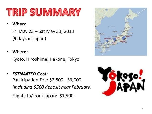 Japan Trek 2014 Info Session