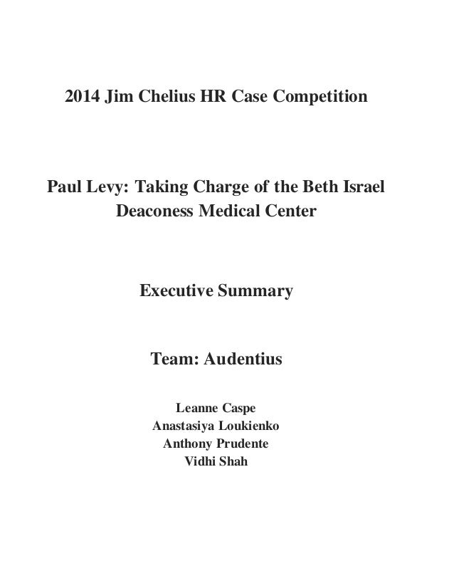 Paul Levy: Taking Charge of the Beth Israel Deaconess Medical Center (A) Case Solution & Answer