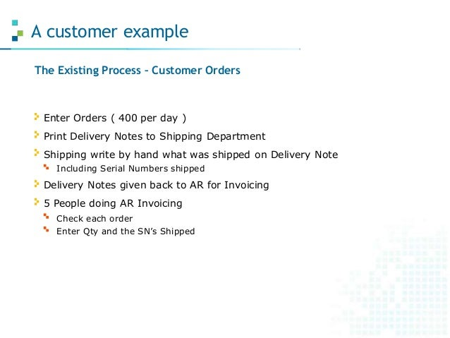 How to write a delivery note