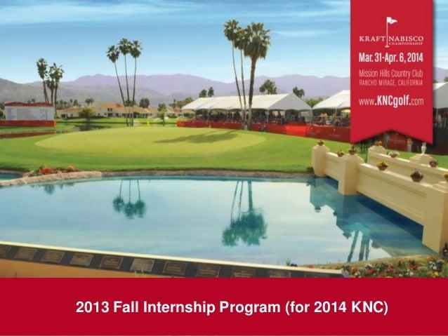 2013 Fall Internship Program (for 2014 KNC)